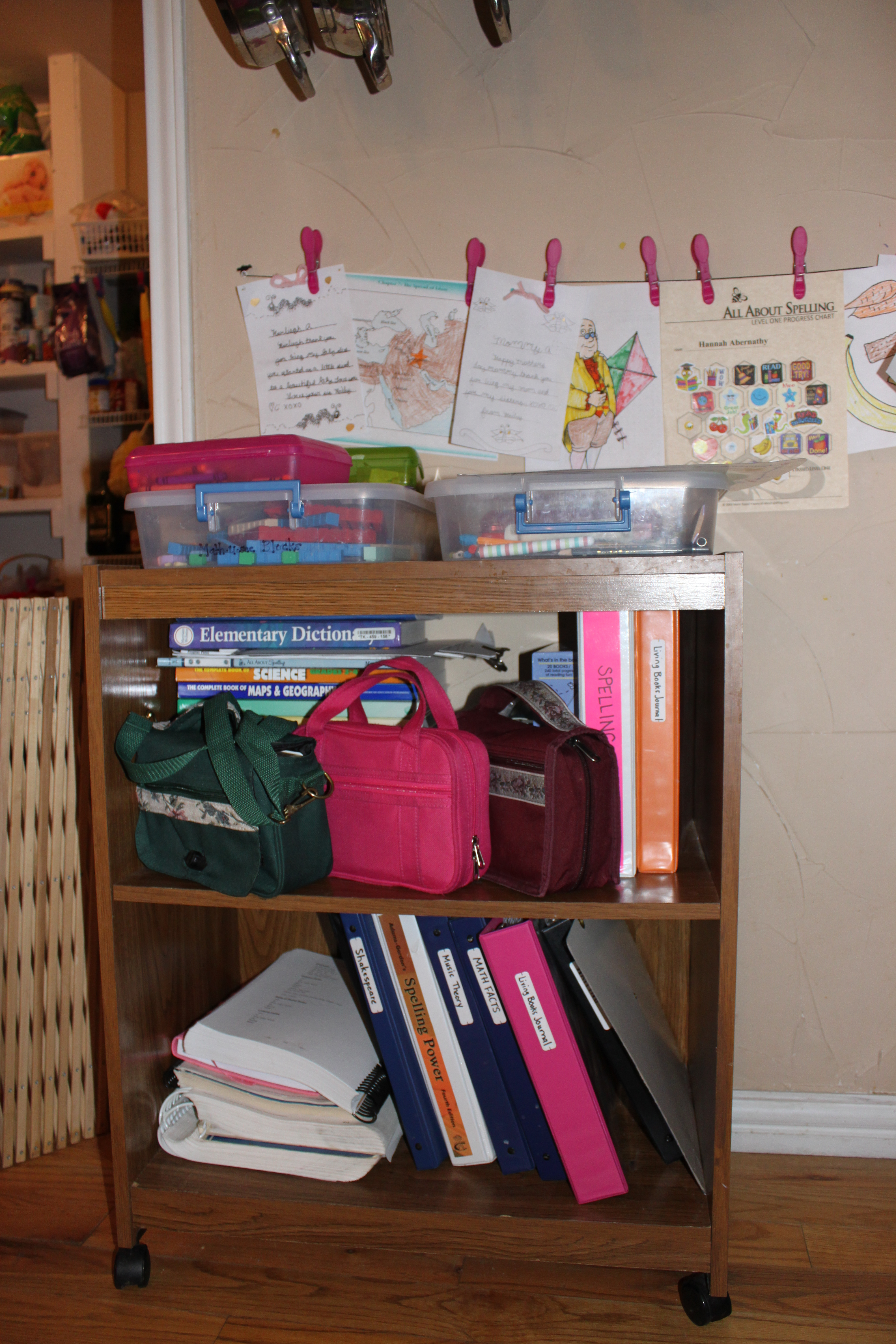 My Old Microwave Book Cart - I totally re-purposed this.  Don't you want to pin this awesomeness?